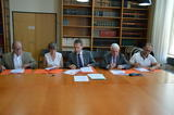 Signature d'une convention